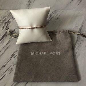 NWOT Michael Kors Pave Bar Slider Bracelet